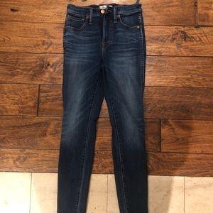 "Madewell 10"" skinny high rise jeans"
